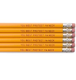 "Frog & Toad Press WuTang ""You Best Protect Ya Neck"" Pencils Set of 6"