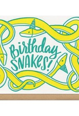 Frog & Toad Press Birthday Snakes! Greeting Card