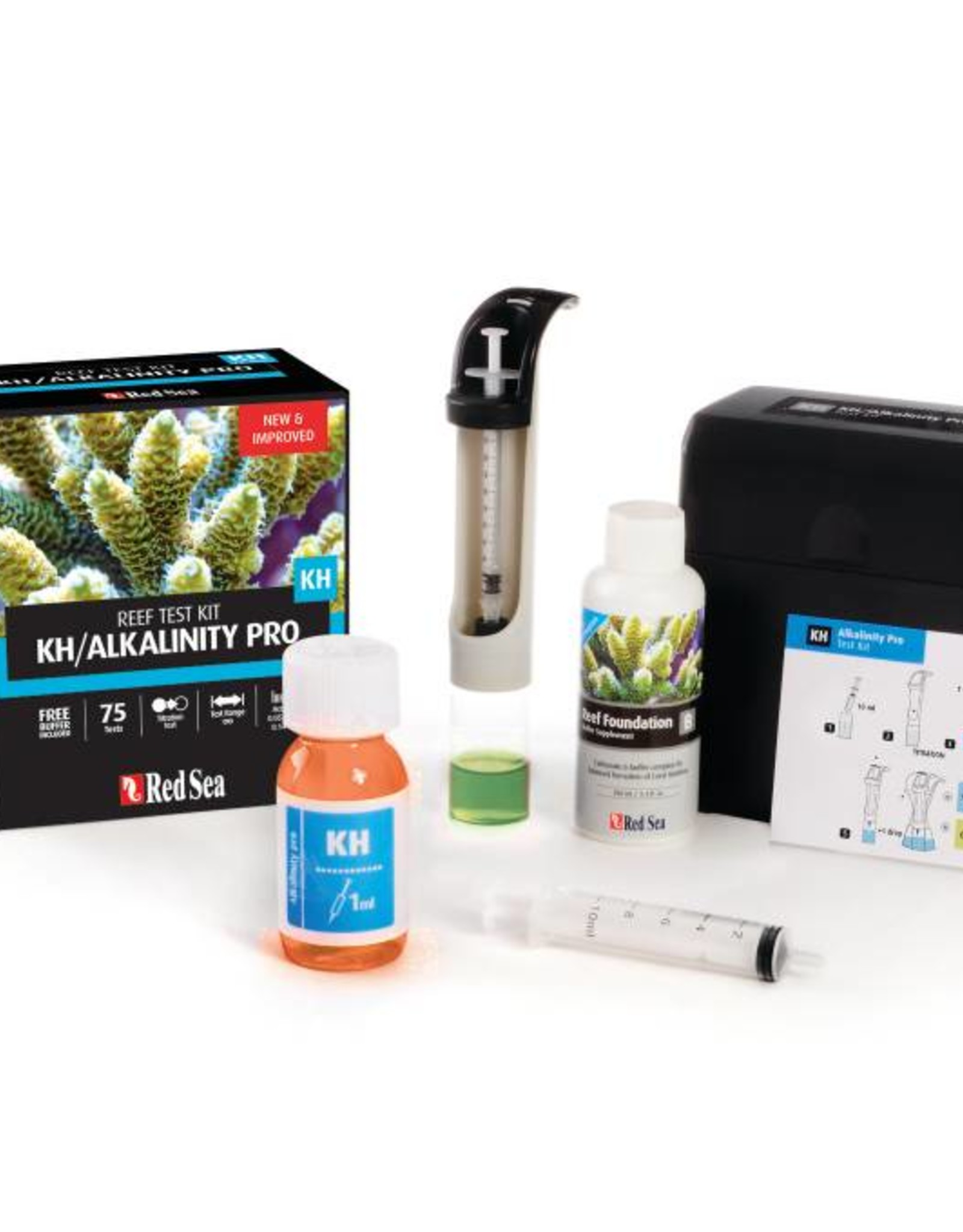 RED SEA Alkalinity Pro - High accuracy Titration Test Kit (75 tests)