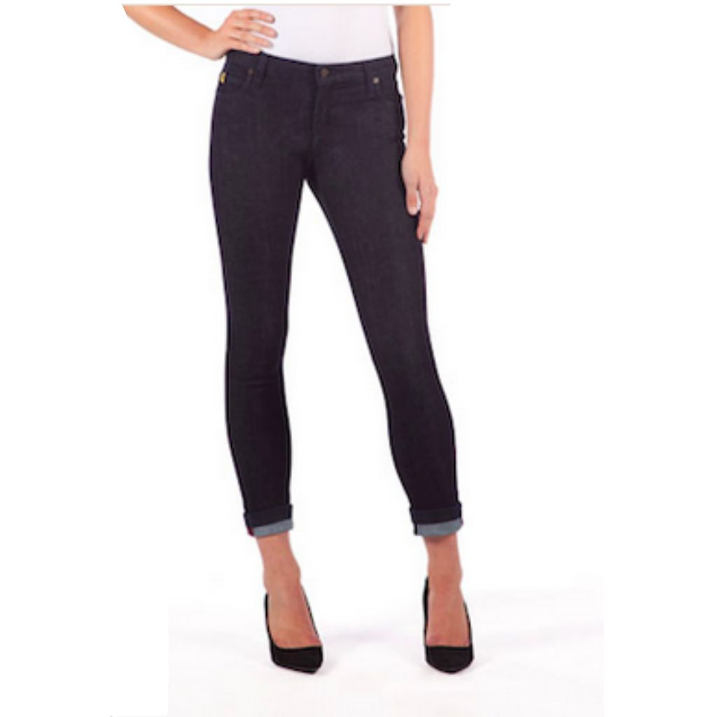 7c2cdbf742f YogaJeans tall high-waist cuffed denim ...