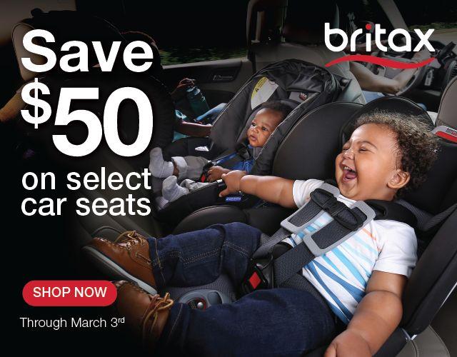 Save $50 on select Britax car seats