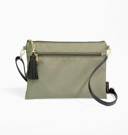 Logan + Lenora Convertible Clutch Wristlet Olive/blush