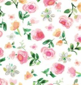 Pello Pello Burp Cloth Elizabeth Light Pink
