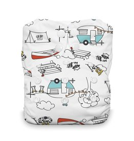Thirsties Thirsties Natural One Size AIO Snap Happy Camper