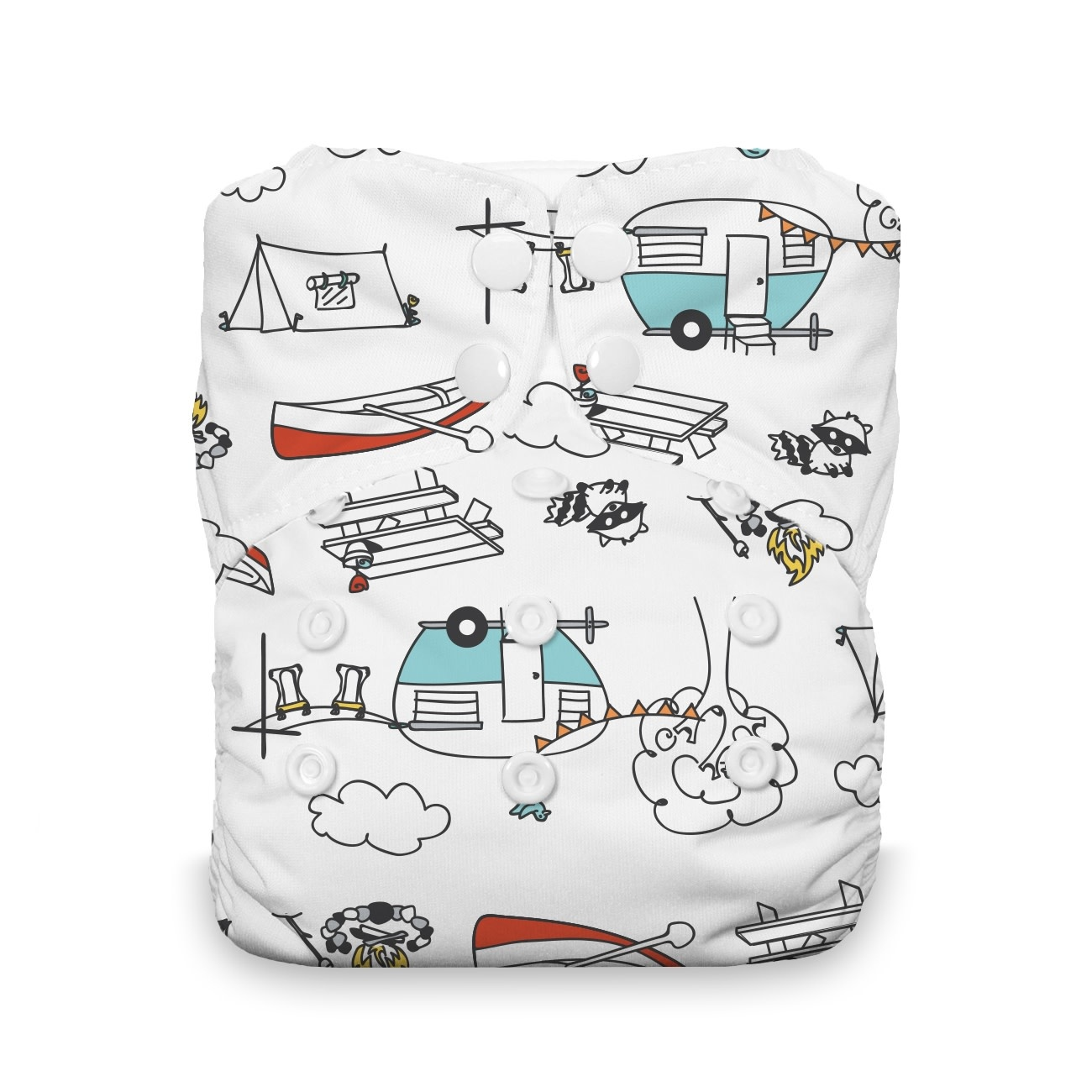 Thirsties Thirsties - Natural One Size AIO Snap - Happy Camper