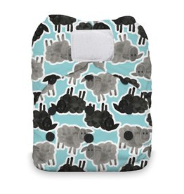 Thirsties Thirsties Natural One Size AIO H&L Counting Sheep