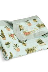 Milkbarn Milkbarn Big Bamboo Lovey Blanket Potted Plants
