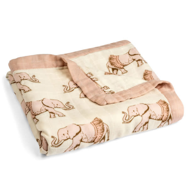 Milkbarn Milkbarn Big Bamboo Lovey Blanket Rose Elephant