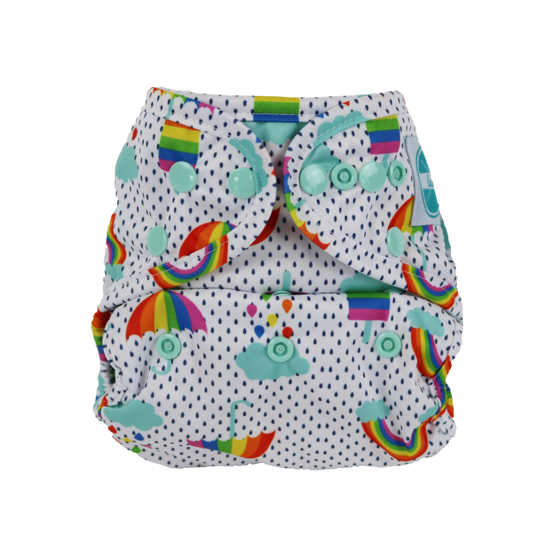 Luludew Convertible Diaper Cover One Size Luludew Rainbow Dreams