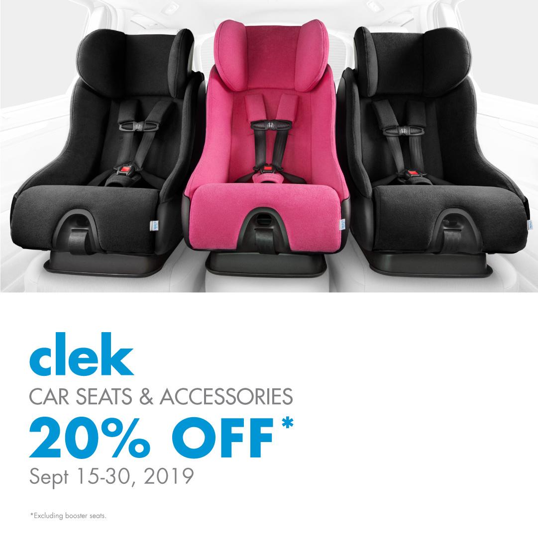 Clek 20% Off Foonf, Fllo, Liing, & Accessories