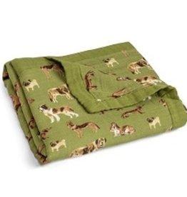 Milkbarn Milkbarn Big Bamboo Lovey Blanket Green Dog