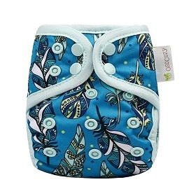 OsoCozy Newborn Diaper Cover Jay Feathers
