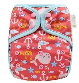 OsoCozy One Size Diaper Cover Sea Life