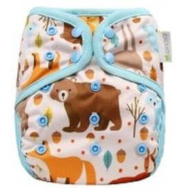 OsoCozy One Size Diaper Cover Forest Critters