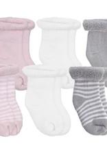 Kushies Baby Newborn Terry socks 6 pair Pink