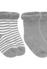Kushies Baby Newborn Terry socks 2 pair Grey