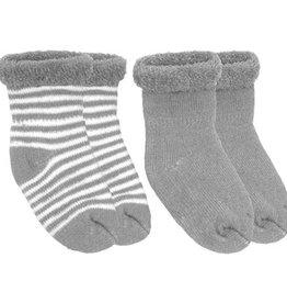 Newborn Terry socks 2 pair Grey
