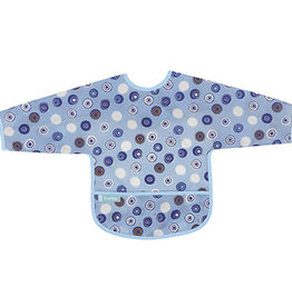 Kushies Baby Kushies Sleeved Clean Bib Crazy Circles 12-24m