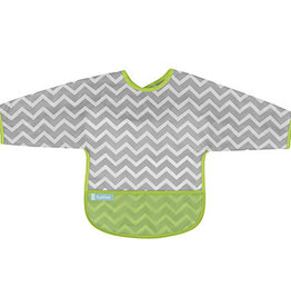 Kushies Baby Kushies Sleeved Clean Bib Chevron Green 6-12m