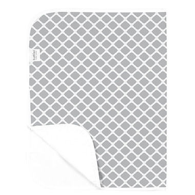 Kushies Baby Kushies Changing Pad Flannel Lattice Grey