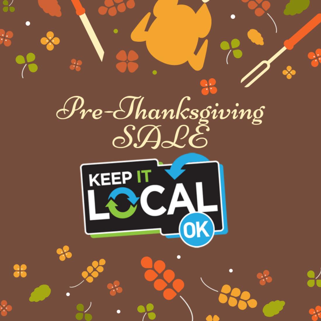 November Keep It Local Perk: Annual Pre-Thanksgiving Day Sale