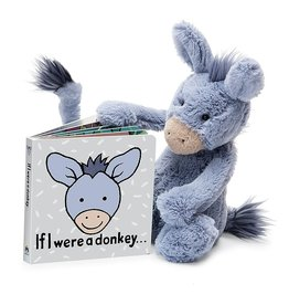 Jellycat If I Were a Donkey Tail Book