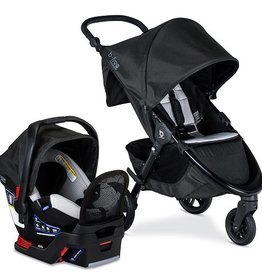 Britax B-Free Premium & Endeavours Travel System Clean Comfort Indy