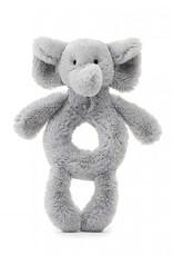 Jellycat Bashful Grey Elephant Plush Ring Rattle