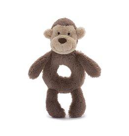 Jellycat Bashful Monkey Plush Ring Rattle