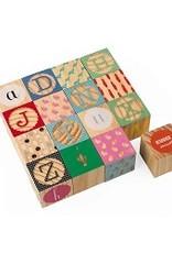 Janod Kubix 16 Carved Alphabet Blocks