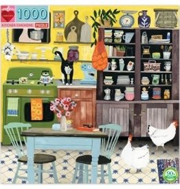 1000 pc Puzzle Kitchen Chickens