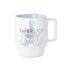 Designworks Ink Ceramic Mug - Embrace the Day
