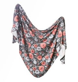 Copper Pearl Copper Pearl - Knit Swaddle Blanket - Poppy