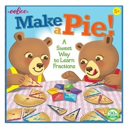 Make a Pie Fractions Board Game