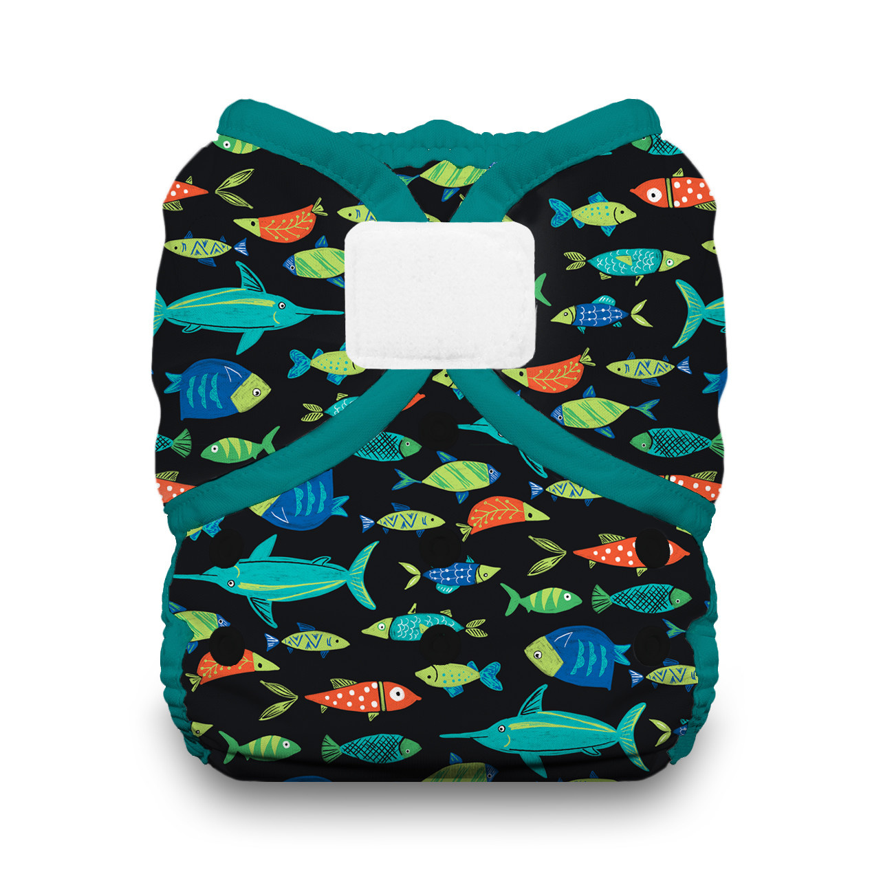 Thirsties Thirsties Duo Wrap Size 1 H&L Fish Tales