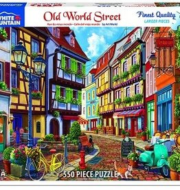 White Mountain Puzzles Old World Street 550 Piece Puzzle
