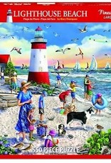 White Mountain Puzzles Lighthouse Beach 550 Piece Puzzle