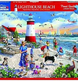 White Mountain Puzzles Lighthouse Beach 550 Piece Puzzle