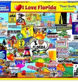 White Mountain Puzzles I Love Florida 1000 Piece Puzzle