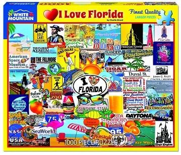 White Mountain Puzzles I Love Florida 1000 Piece Puzzle