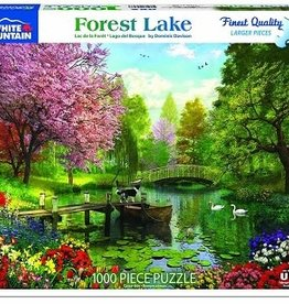 White Mountain Puzzles Forest Lake 1000 Piece Puzzle