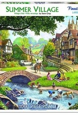 White Mountain Puzzles Summer Village 1000 Piece Puzzle