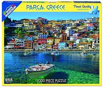 White Mountain Puzzles Parga, Greece 1000 Piece Puzzle