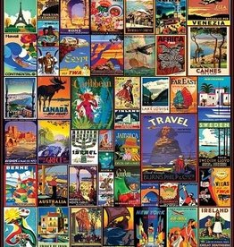 White Mountain Puzzles Travel The World 550 Piece Puzzle