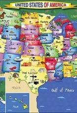 White Mountain Puzzles USA Map 300 Piece Puzzle