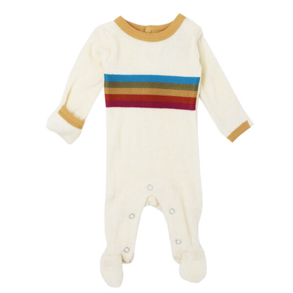 Loved Baby Terry Cloth Footed Overall