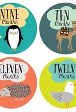 Little Animal Lover Baby Monthly Stickers
