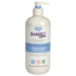 Bambo Nature Tear Clear Baby Shampoo 16.9oz Pump Top