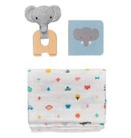 Wild + Wolf Little Elephant Baby Gift Set