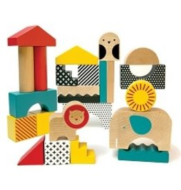 Wild + Wolf Animal Town Wooden Blocks